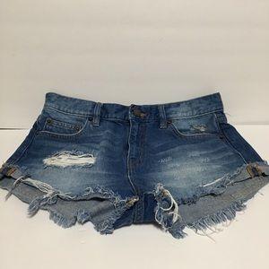 Bdg boyfriend low rise distress shorts